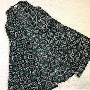 Black Southwest Style Print LuLaRoe Joy Vest
